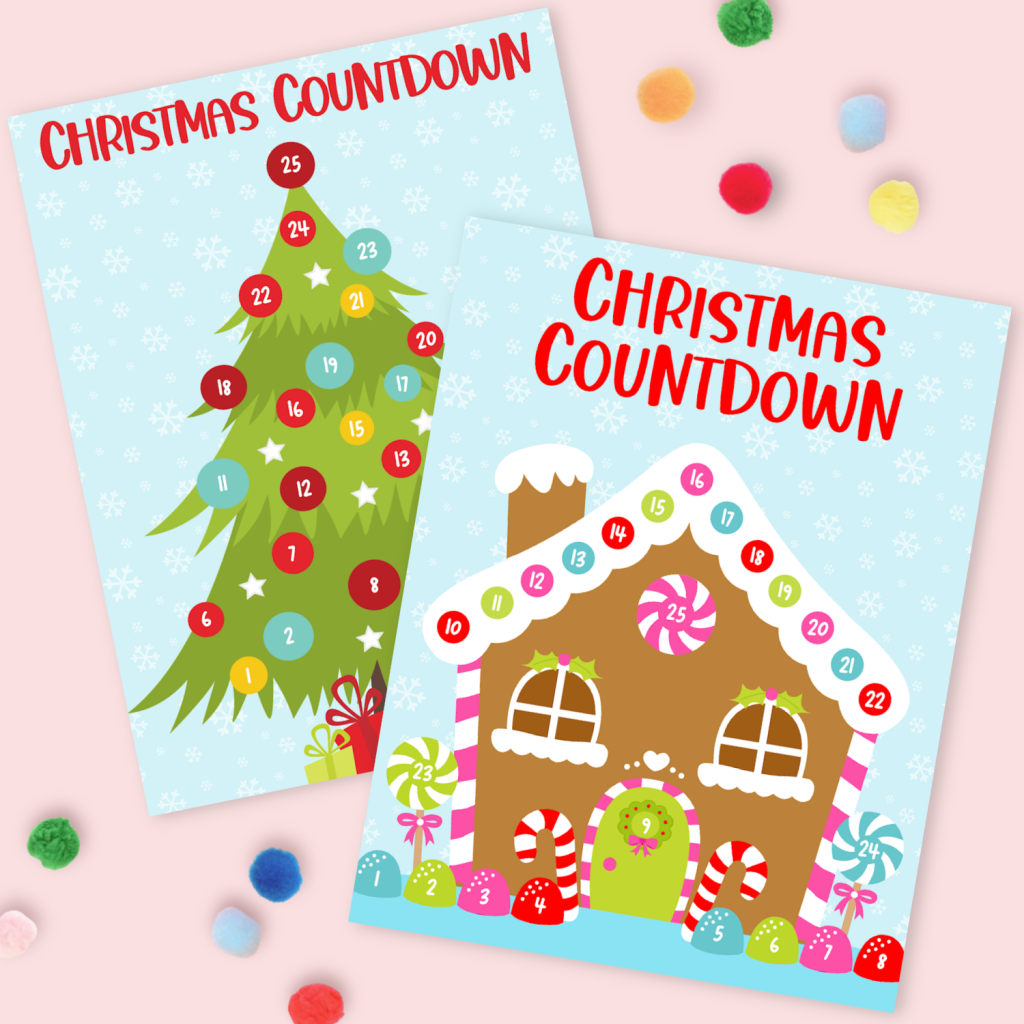 Let the countdown to Christmas begin with these fun and free Christmas Countdown Printables! Christmas Countdown Christmas Tree and Gingerbread House Free Printable