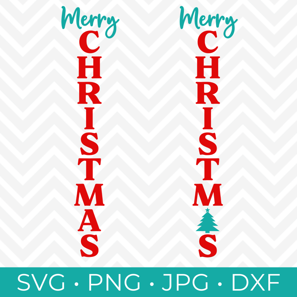 Merry Christmas Vertical SVG Cut FIle