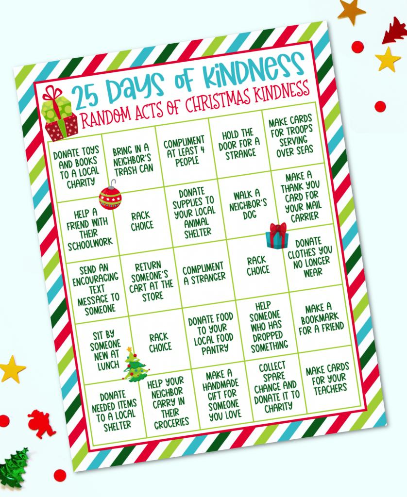 25 Days of Kindness Random Acts of Christmas Kindness Advent Calendar