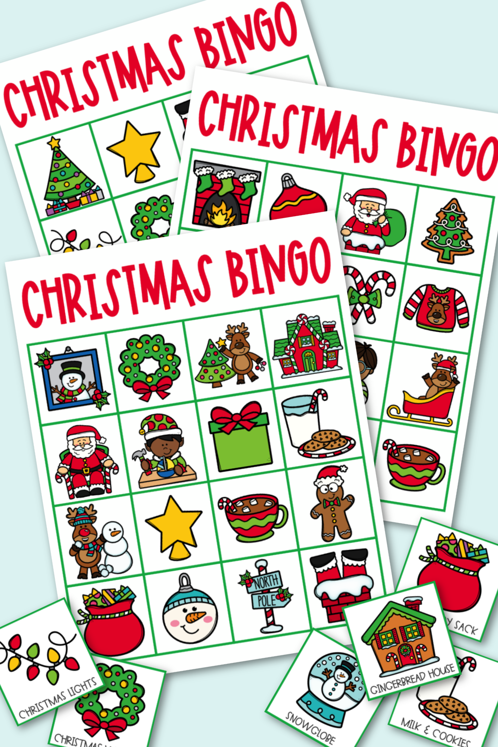Download and print out this fun Christmas Bingo game and have fun playing a festive holiday game.