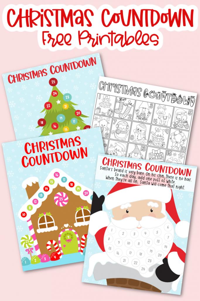Christmas Countdown Free Printables - 4 Free Christmas Countdown Printables