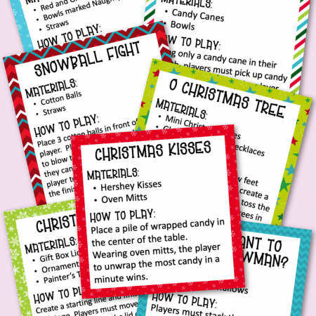 Christmas Minute to Win It Game Cards Free Printable