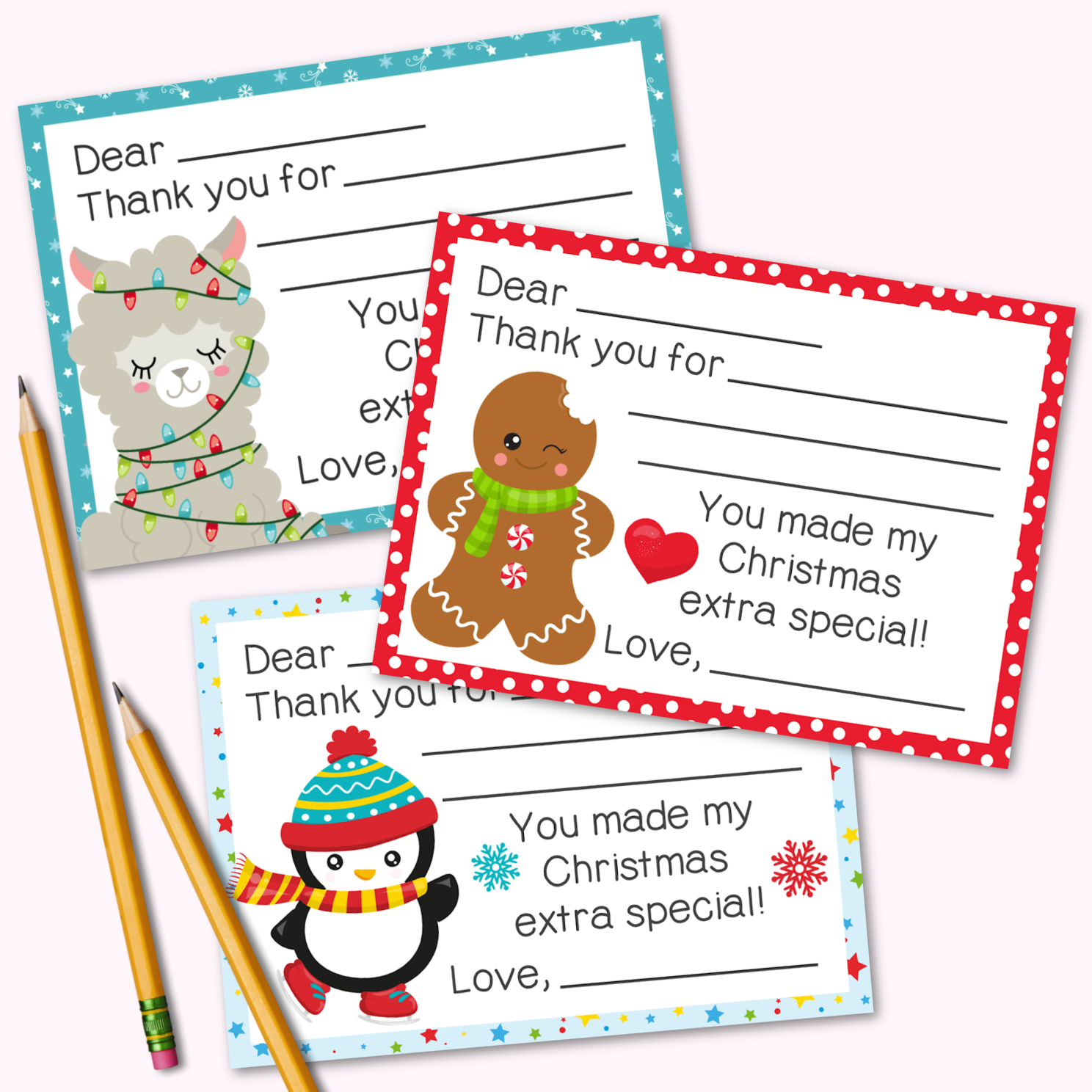 Fill-in-the-Blank Christmas Cards for Kids