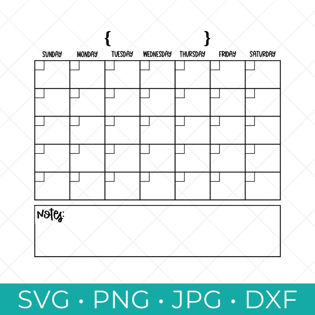 Calendar SVG Free Download