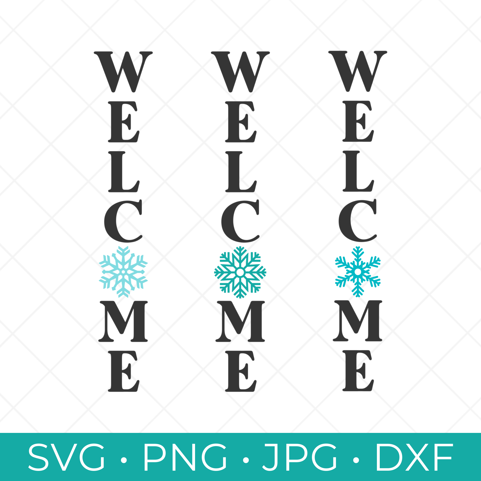 Welcome Snowflake SVG Collection - 3 Free Winter SVG Cut Files