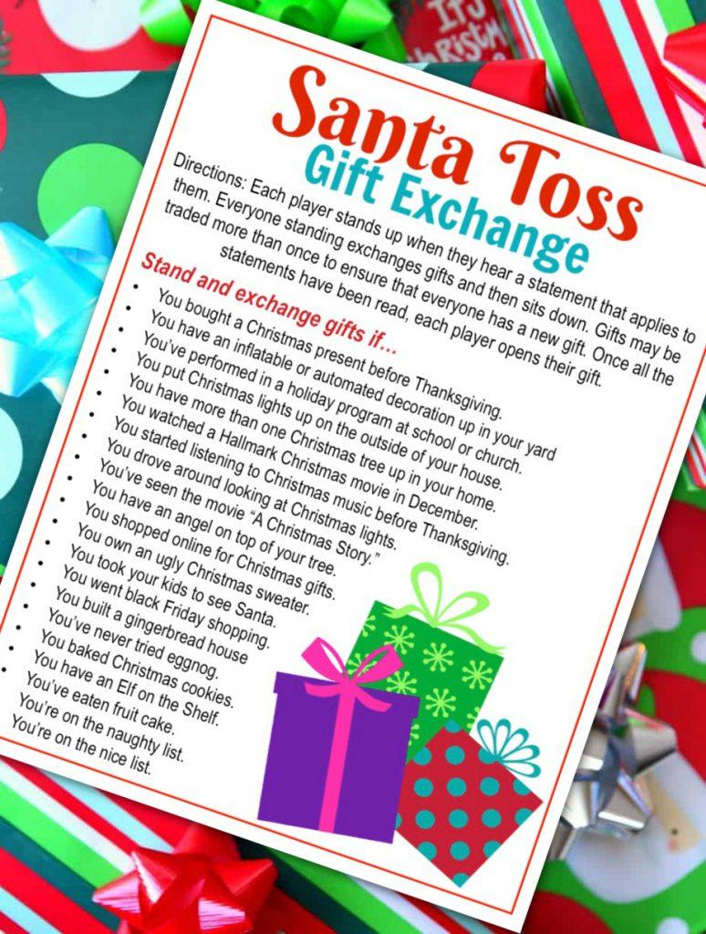 Santa Toss Gift Exchange Gift