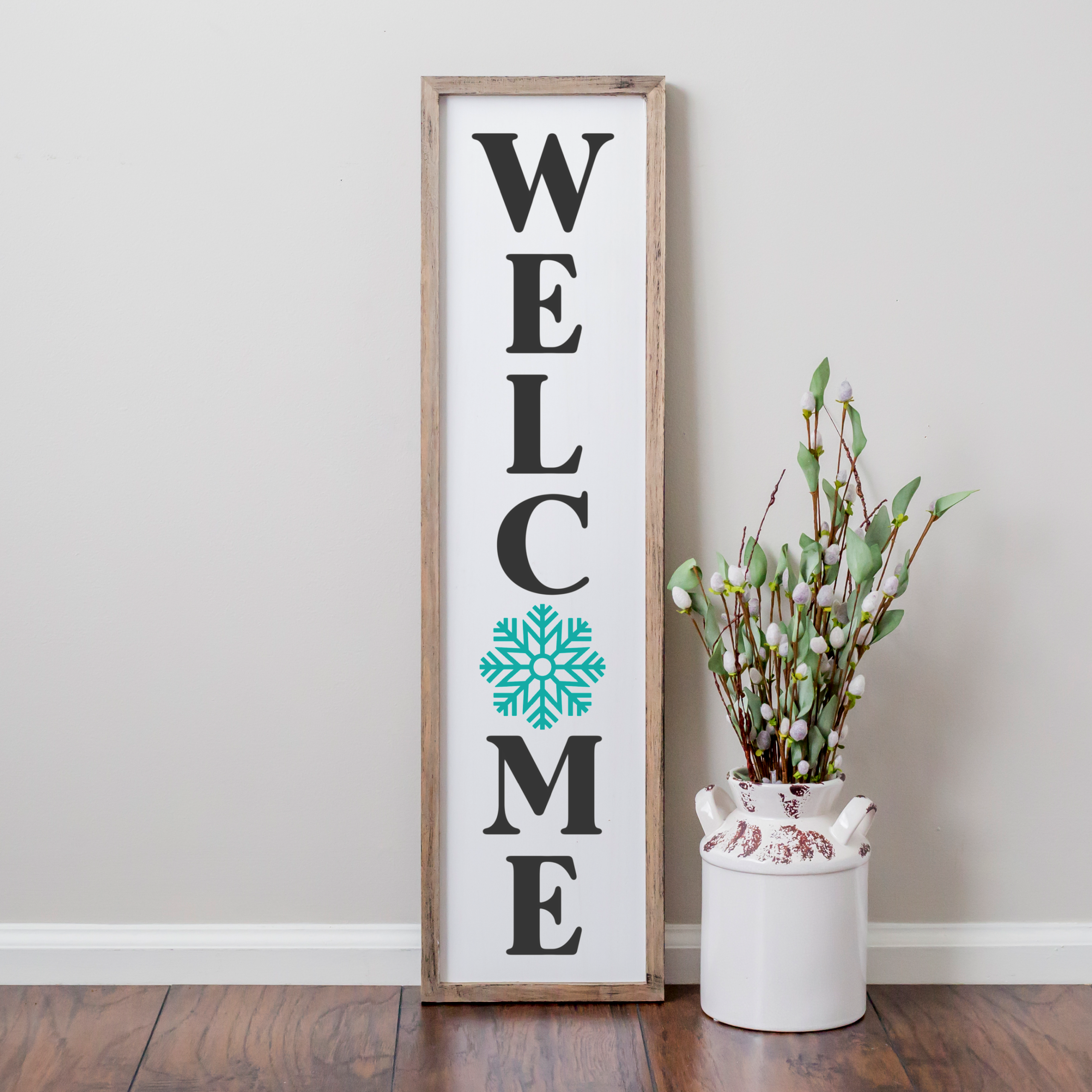Welcome Snowflake Porch Sign SVG perfect for your front porch