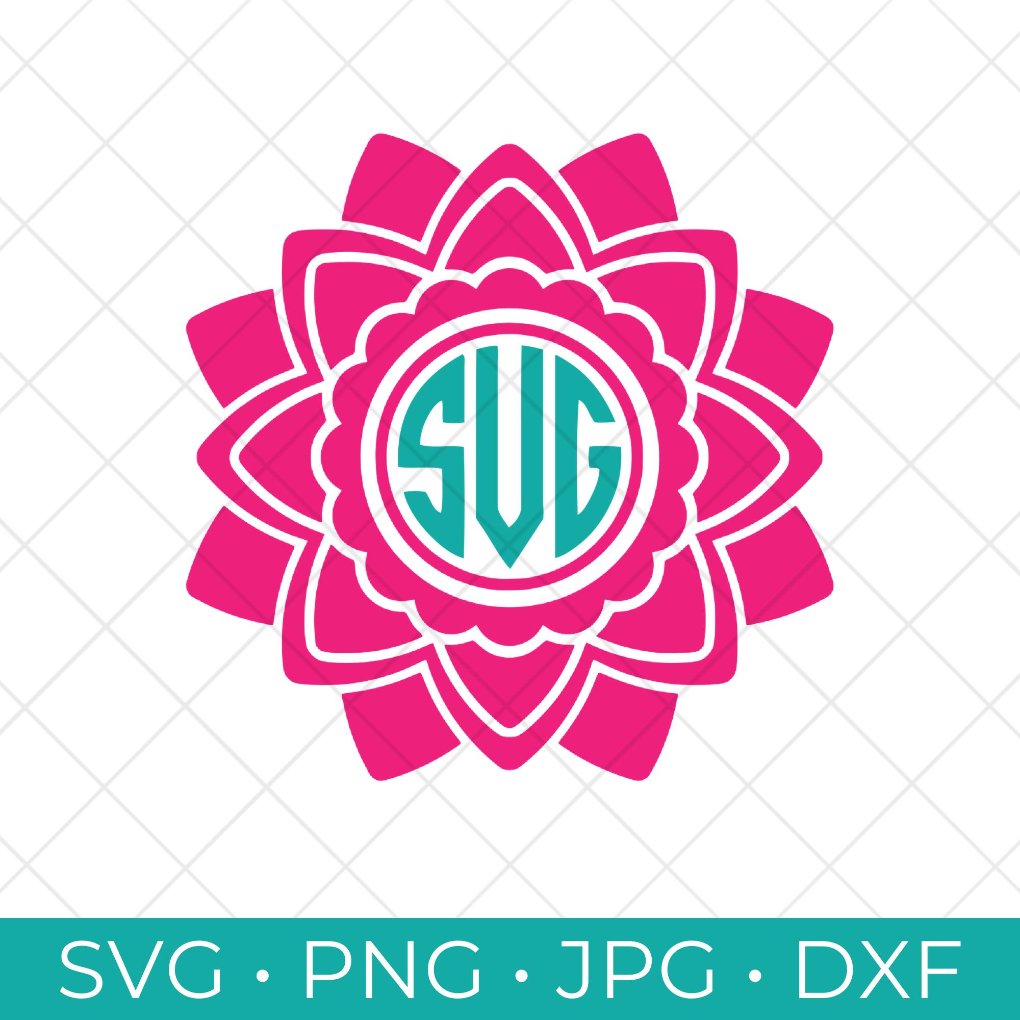 Flower Monogram Frame SVG