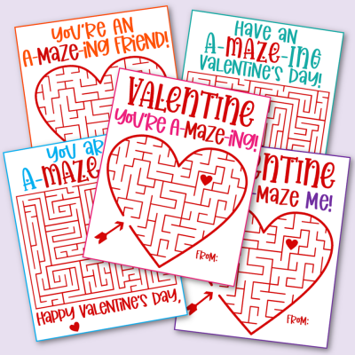 Free Printable Maze Valentine's Day Cards