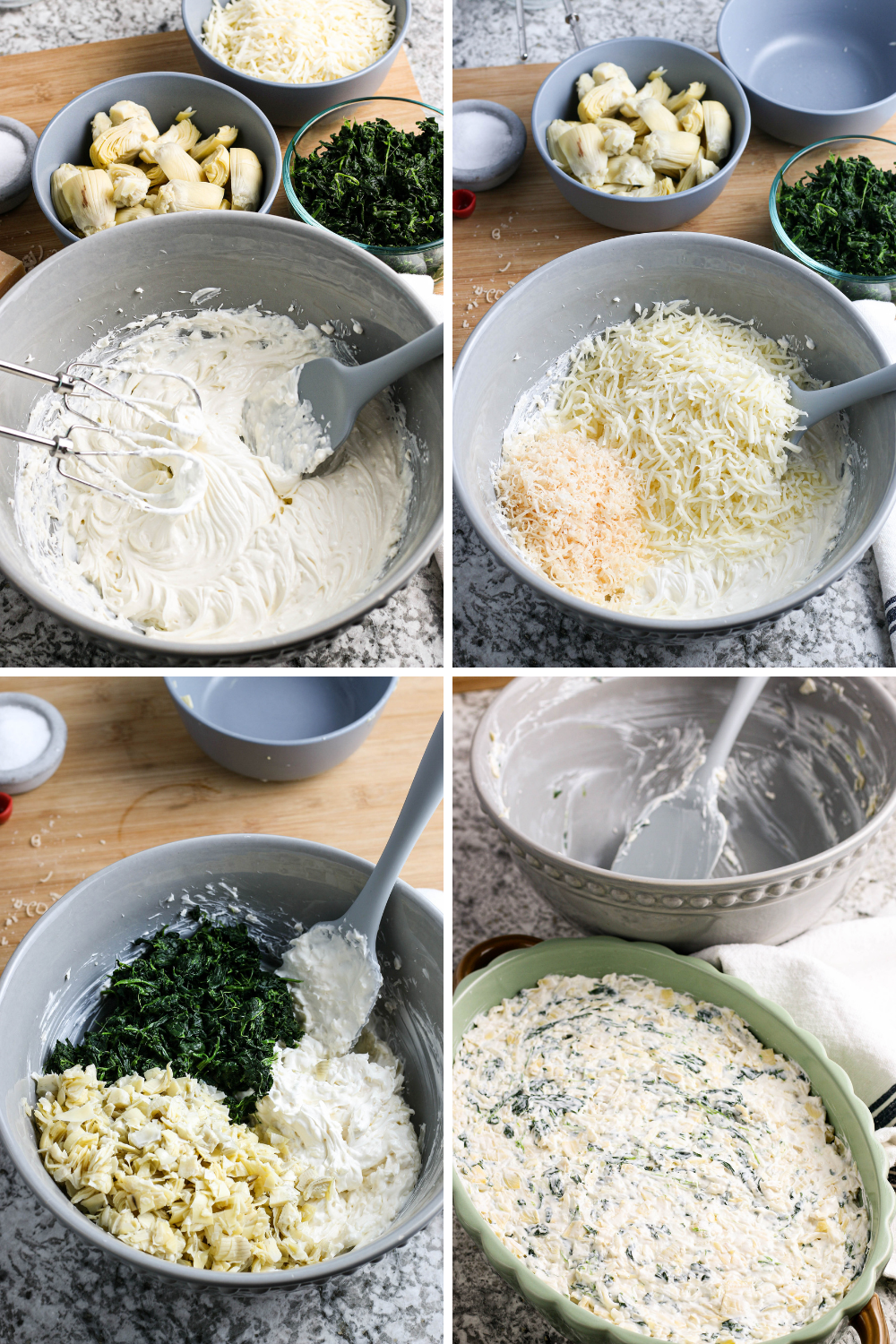 How to make Spinach artichoke dip.