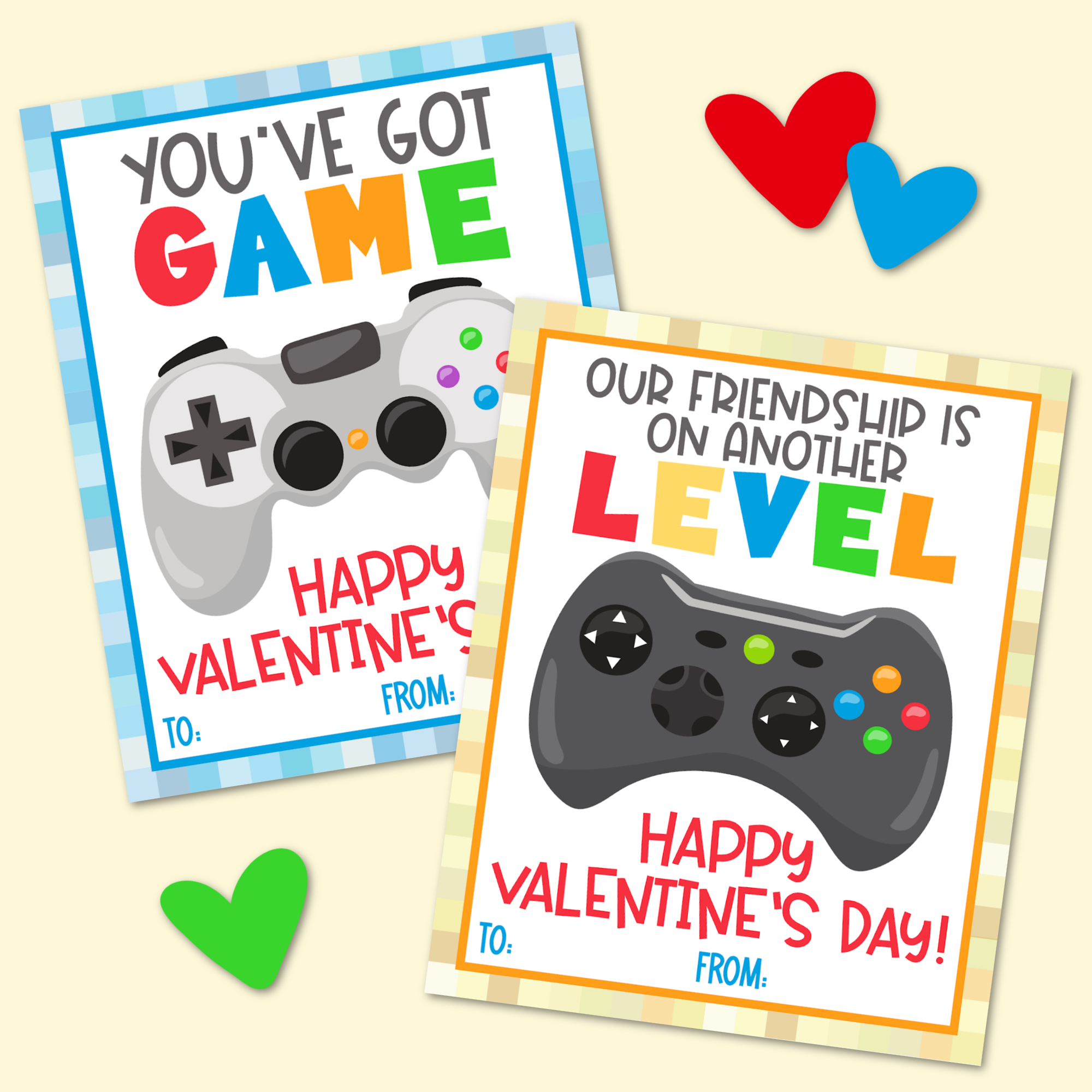 Free Printable Video Game Valentine's Day Cards