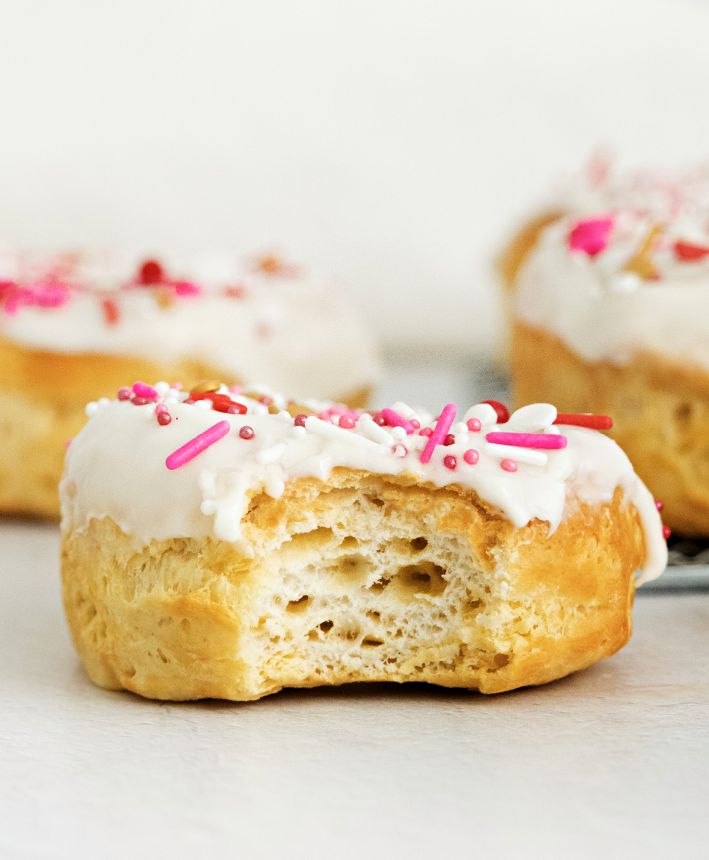 Biscuit dough used to make donuts in the air fryer