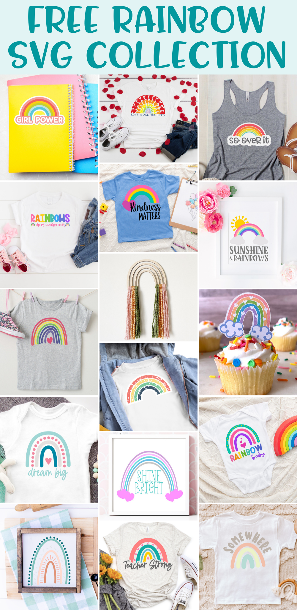Free Rainbow SVG Collection