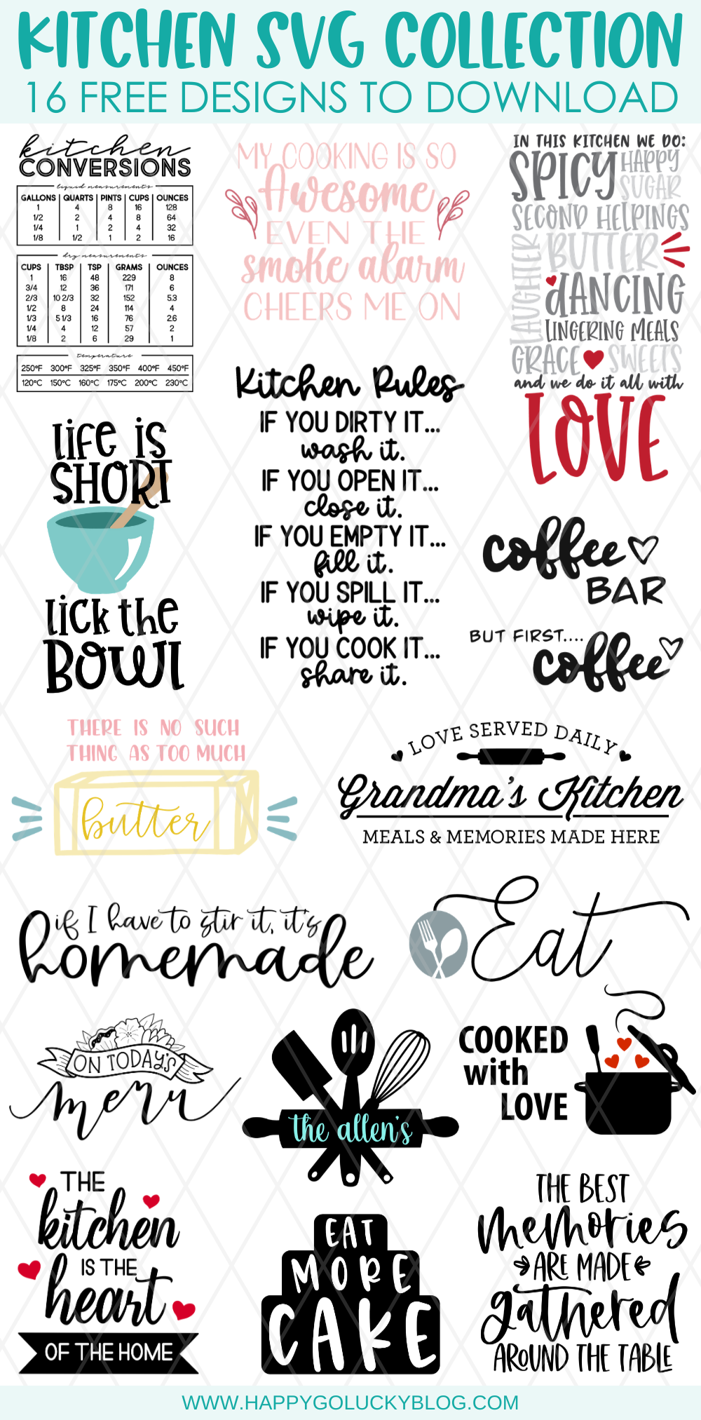 Free Kitchen SVG Collection