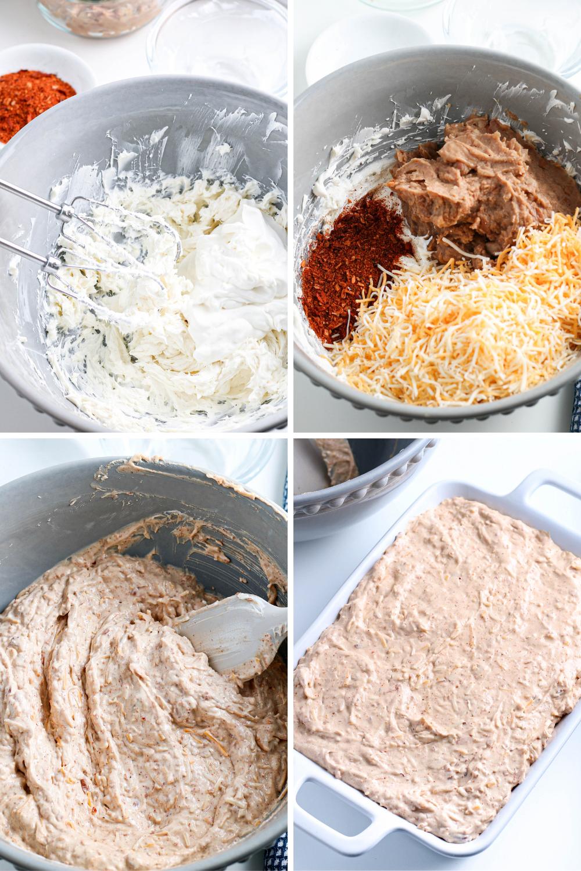 Bean Dip Process Images