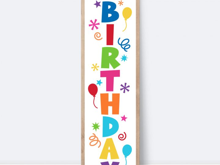 How to Create a Happy Birthday Vertical SIgn