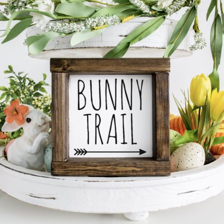 Bunny Trail Wood Sign