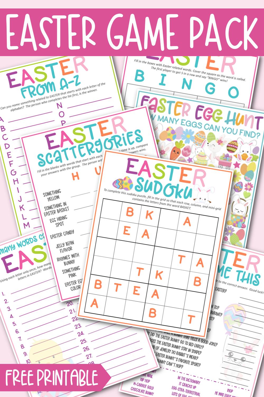 Free Printable Easter Game Pack