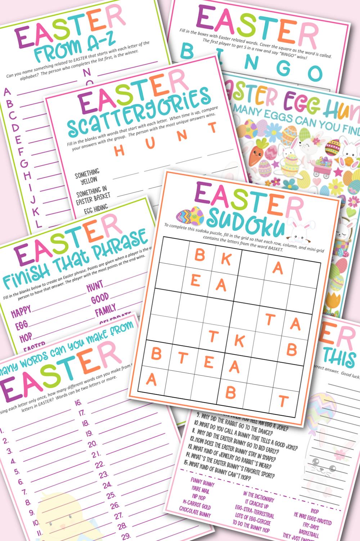 Easter Game Pack Free Printable