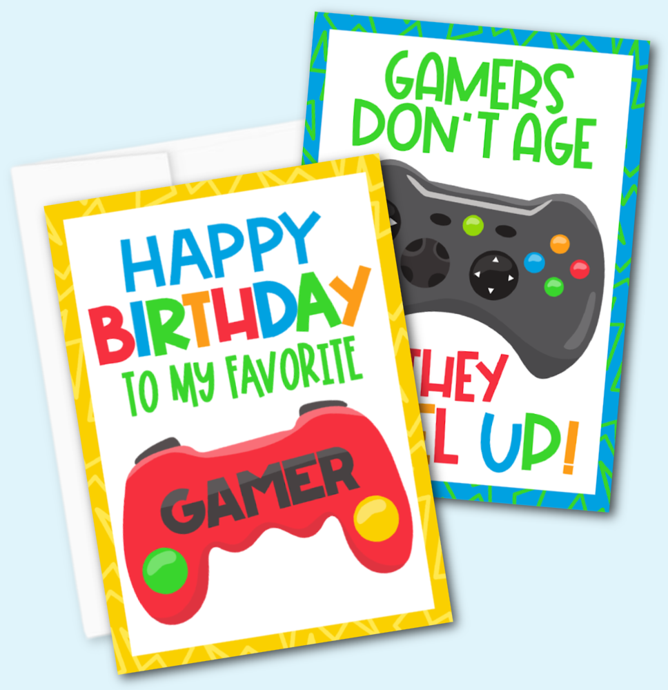 Free Printable Gamer Birthday Card