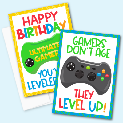 Free Printable Gamer Birthday Cards