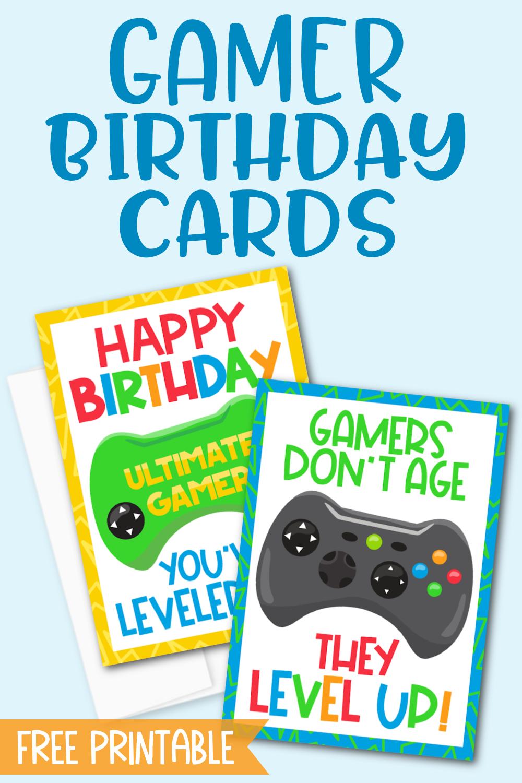 Gamer Birthday Cards Free Printable