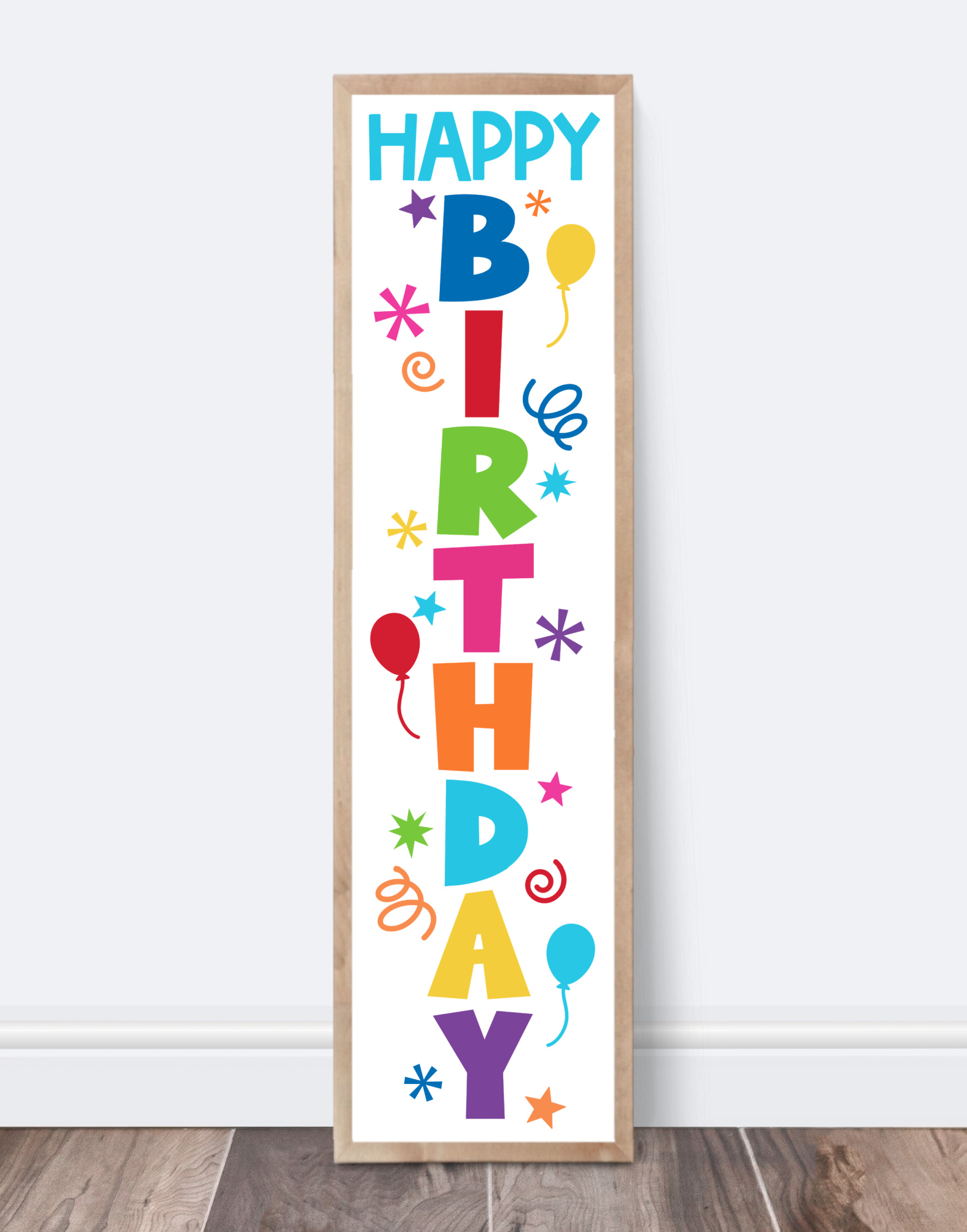 Happy Birthday Porch Sign SVG