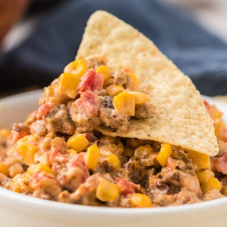 Cheesy Sausage Dip in the Slow Cooker