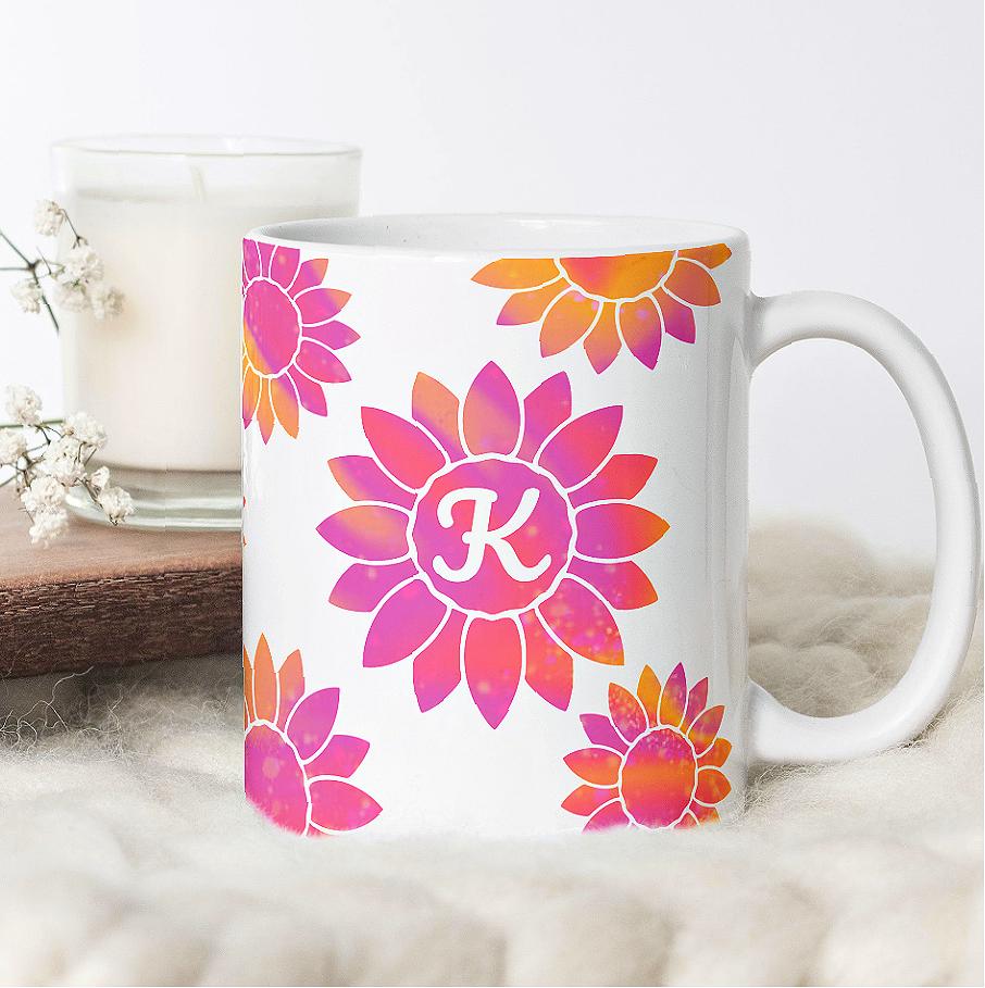 Sunflower Mug Wrap SVG