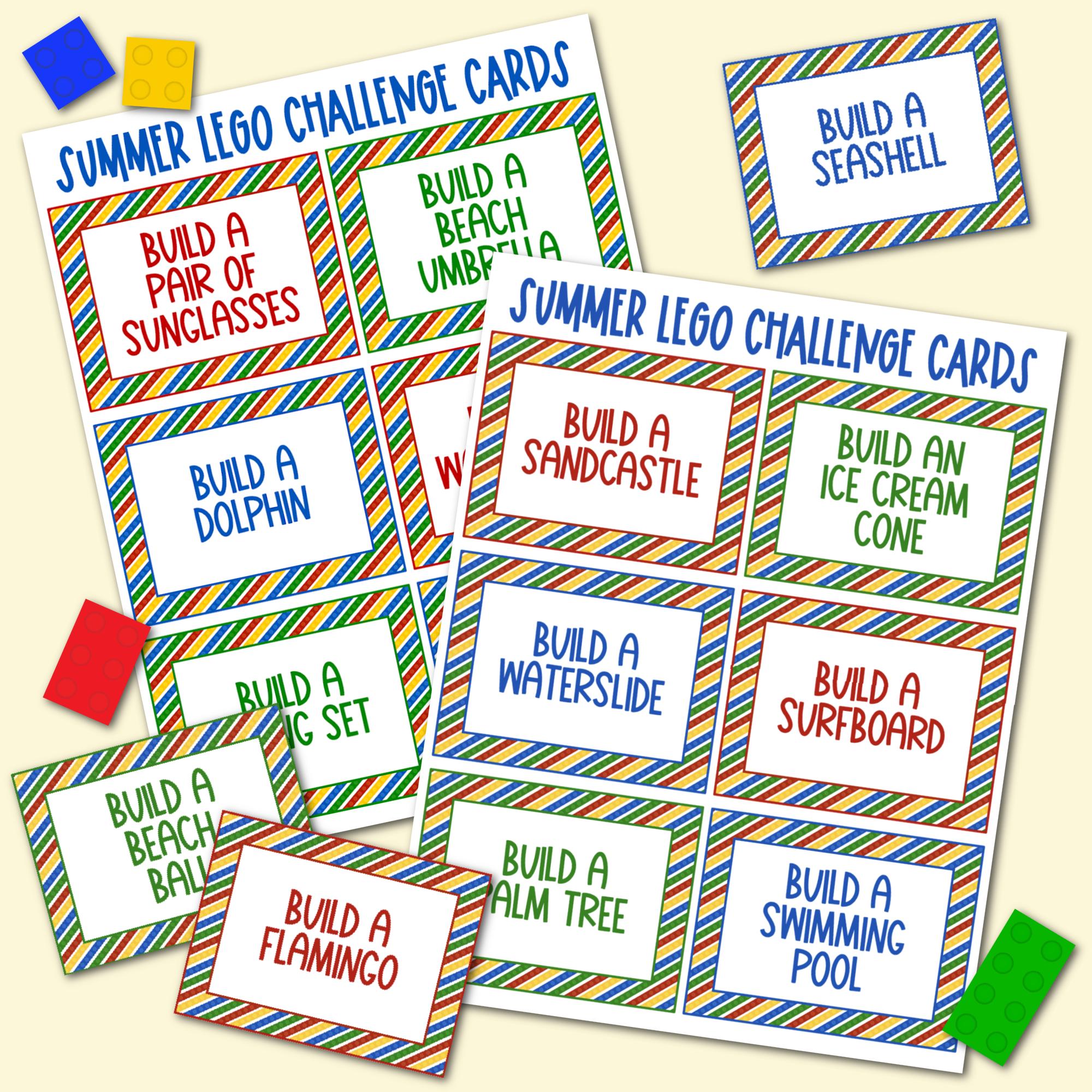 Summer LEGO Challenge Cards