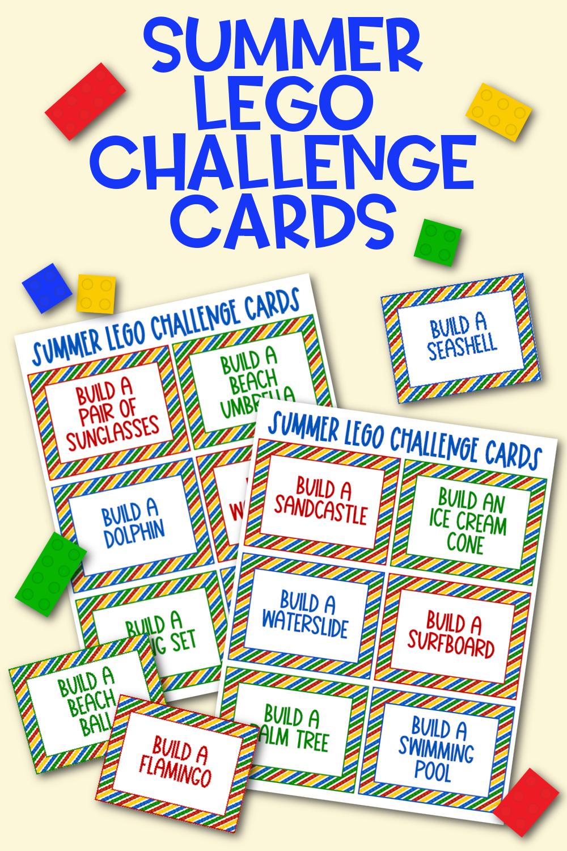 Summer Lego Challenge Cards Free Printable