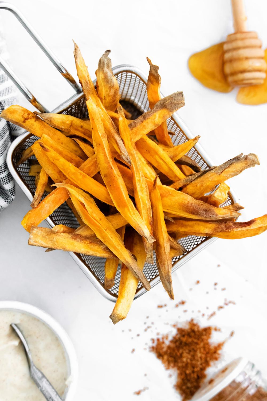 Air Fryer Sweet Potato French Fries