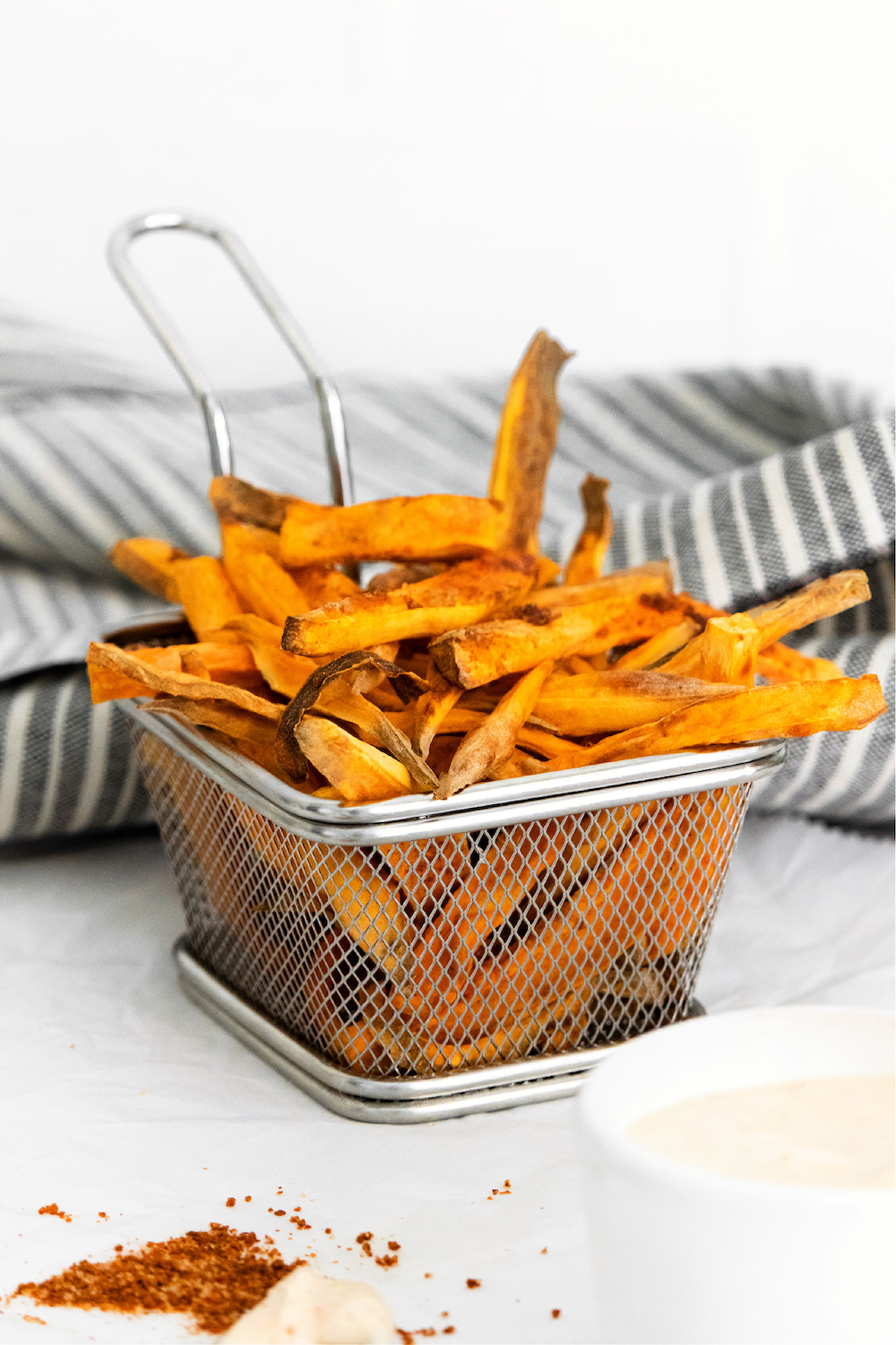 Sweet Potato French Fries in basket