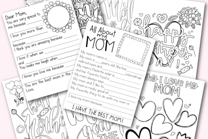 Mother's Day Activity Pack Free Printable