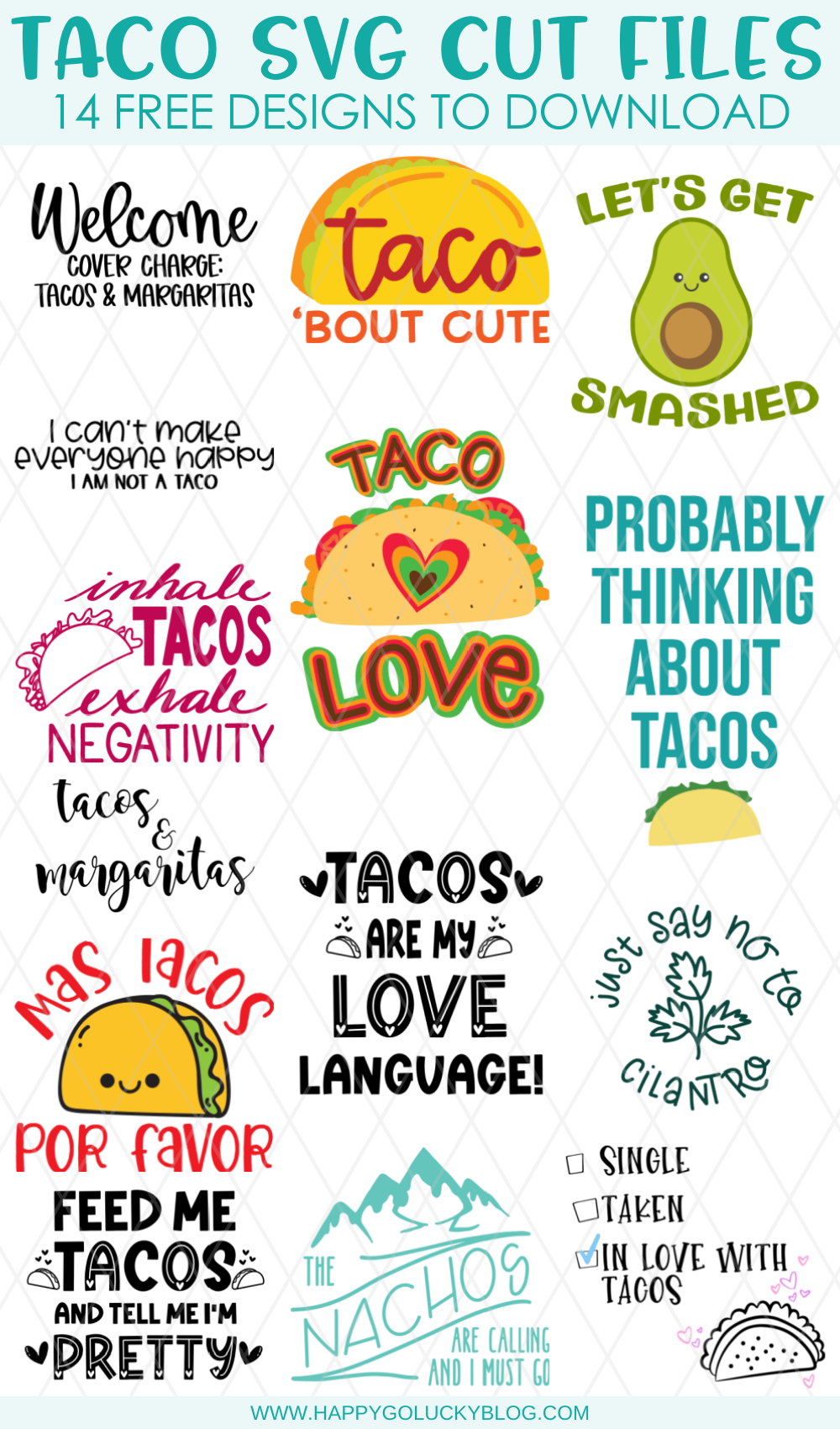 14 Free Taco SVG Cut Files