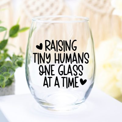 Raising Tiny Humans One Glass at a Time SVG