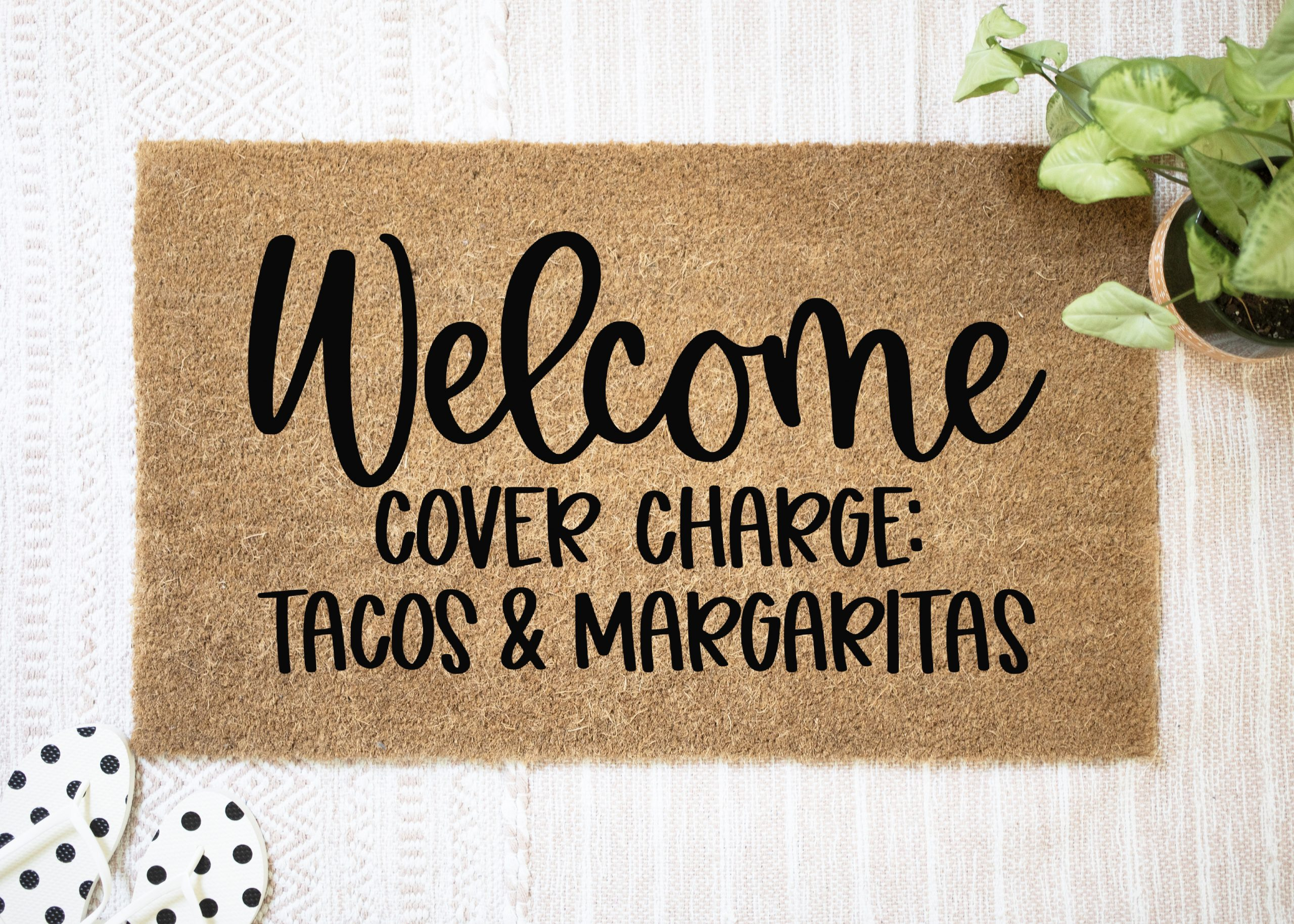 Welcome Cover Charge Taco Margaritas SVG included in a fun Taco SVG Collection