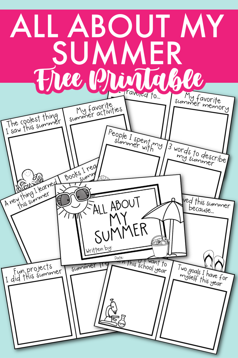 All About My Summer Back To School Activity Kara Creates