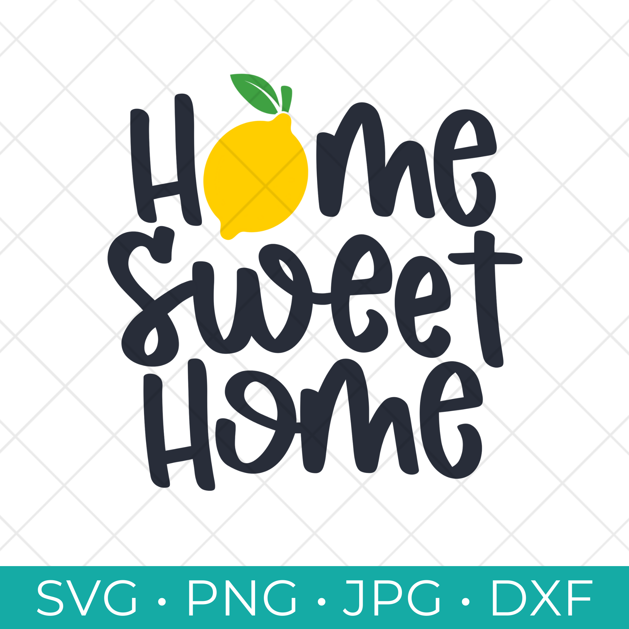 Our Lemon SVG Collection includes eight free cut files perfect for signs, hand towels and more including this free Lemon Home Sweet Home SVG.