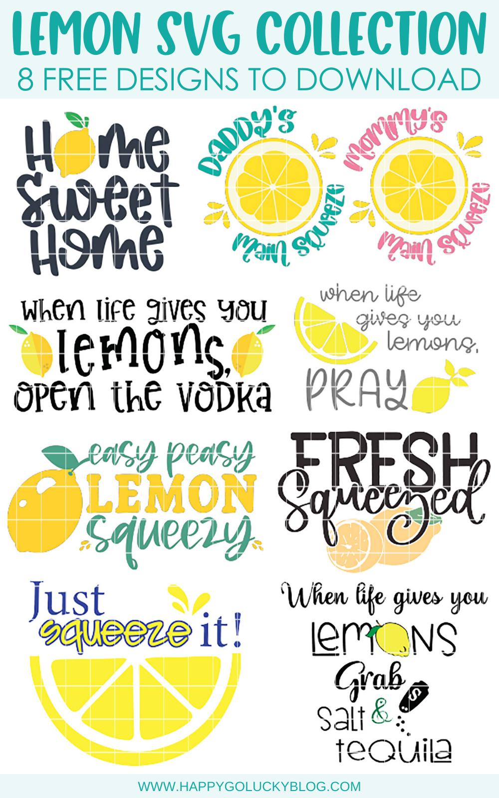 8 Free Lemon SVG Cut Files