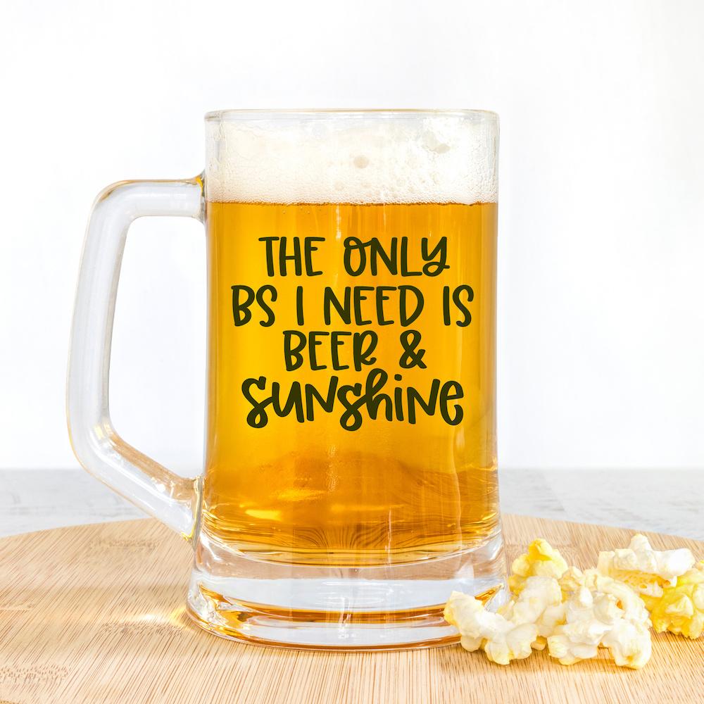 Beer and Sunshine SVG on beer mug