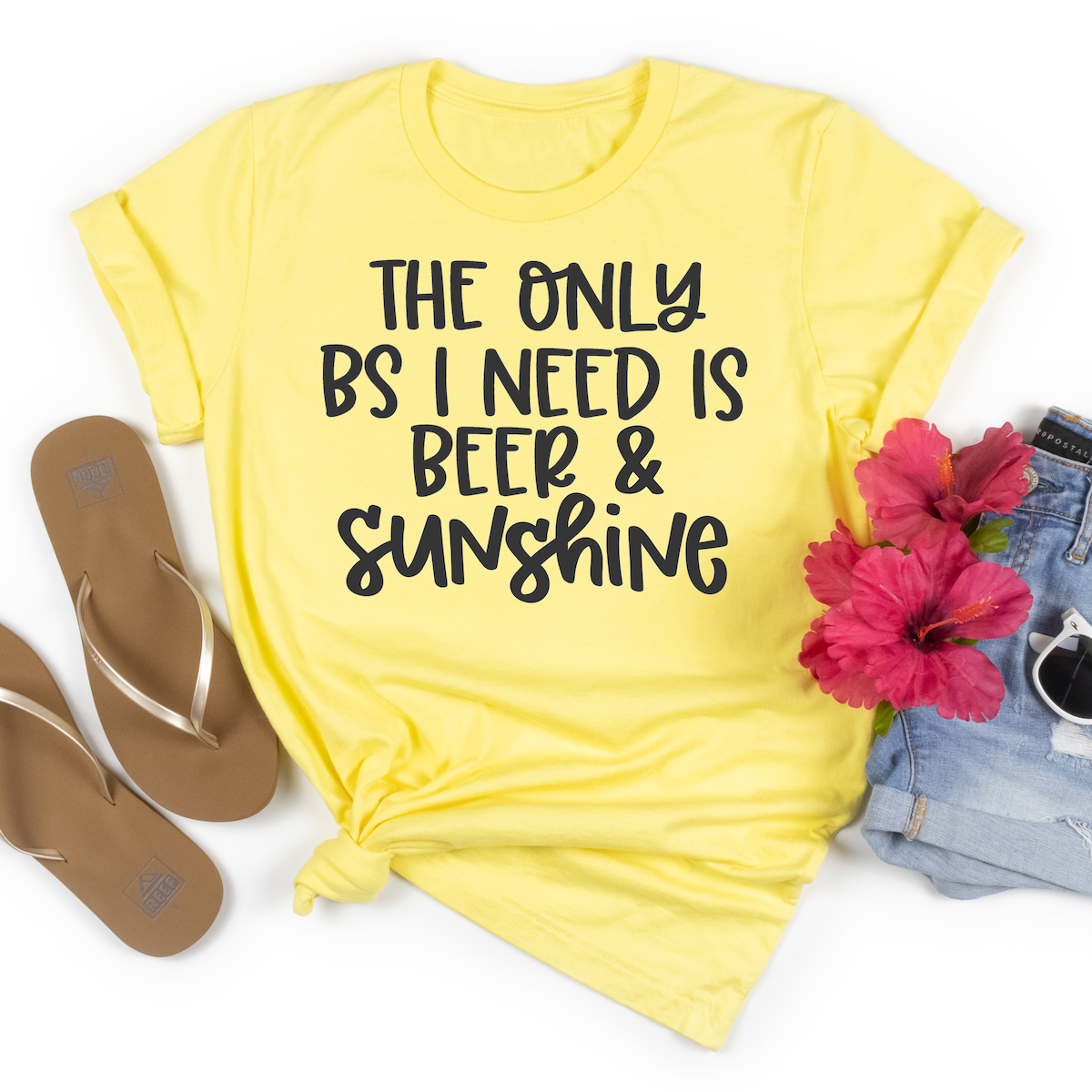 The Only BS I need is Beer and Sunshine SVG