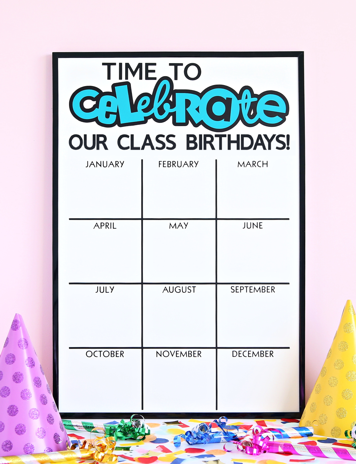 Classroom Birthday Board made using Cricut Explore 3