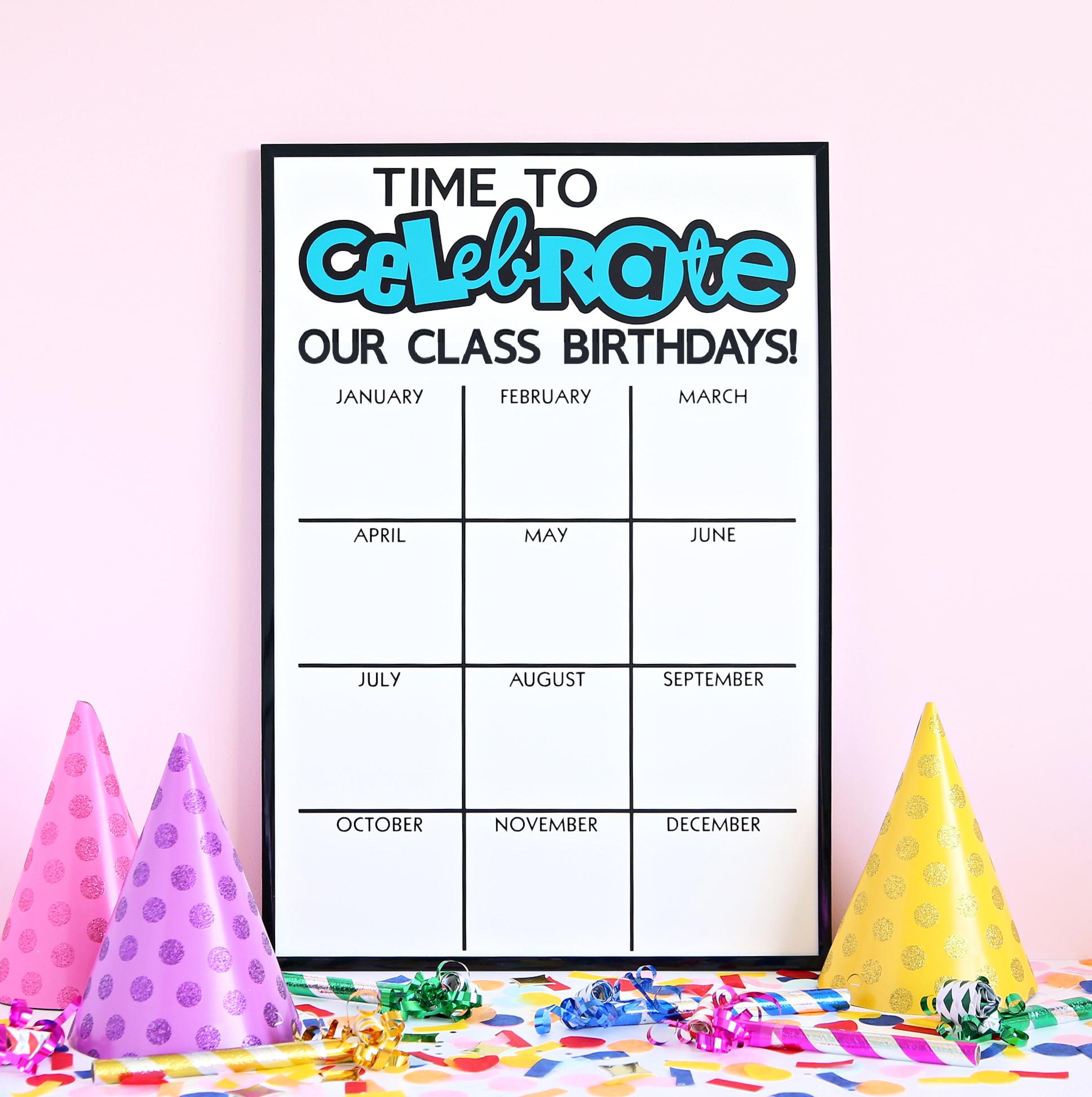 Classroom Birthday Dry Erase Board