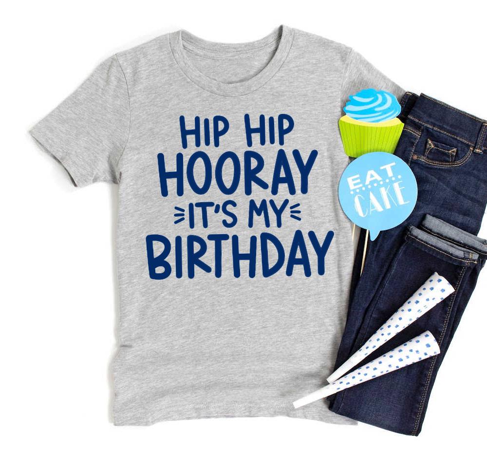 Hip Hip Hooray It's My Birthday Free SVG Cut File