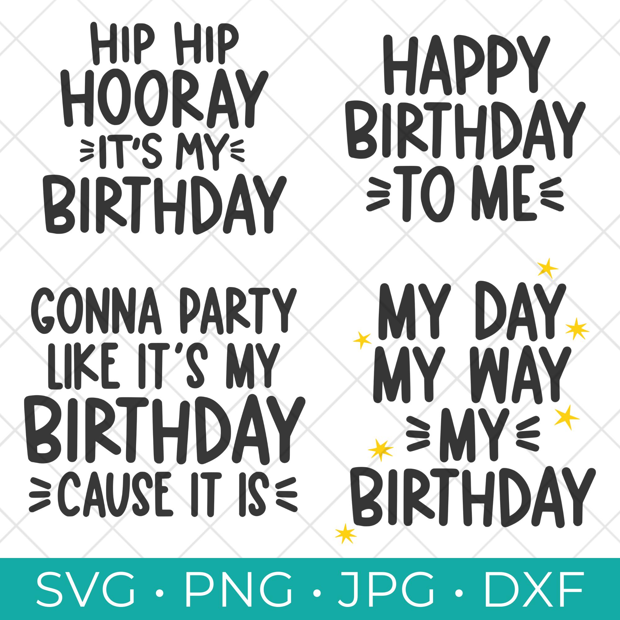Free Birthday SVG Bundle