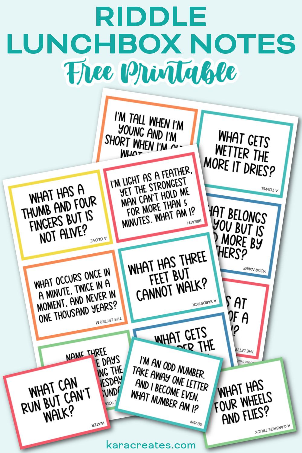 Riddle Lunchbox Notes Free Printable