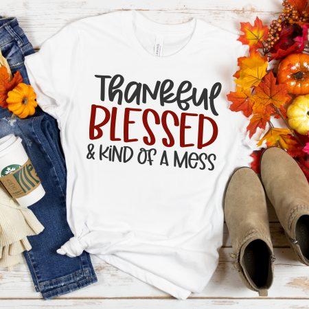 Thankful Blessed Kind of a Mess SVG