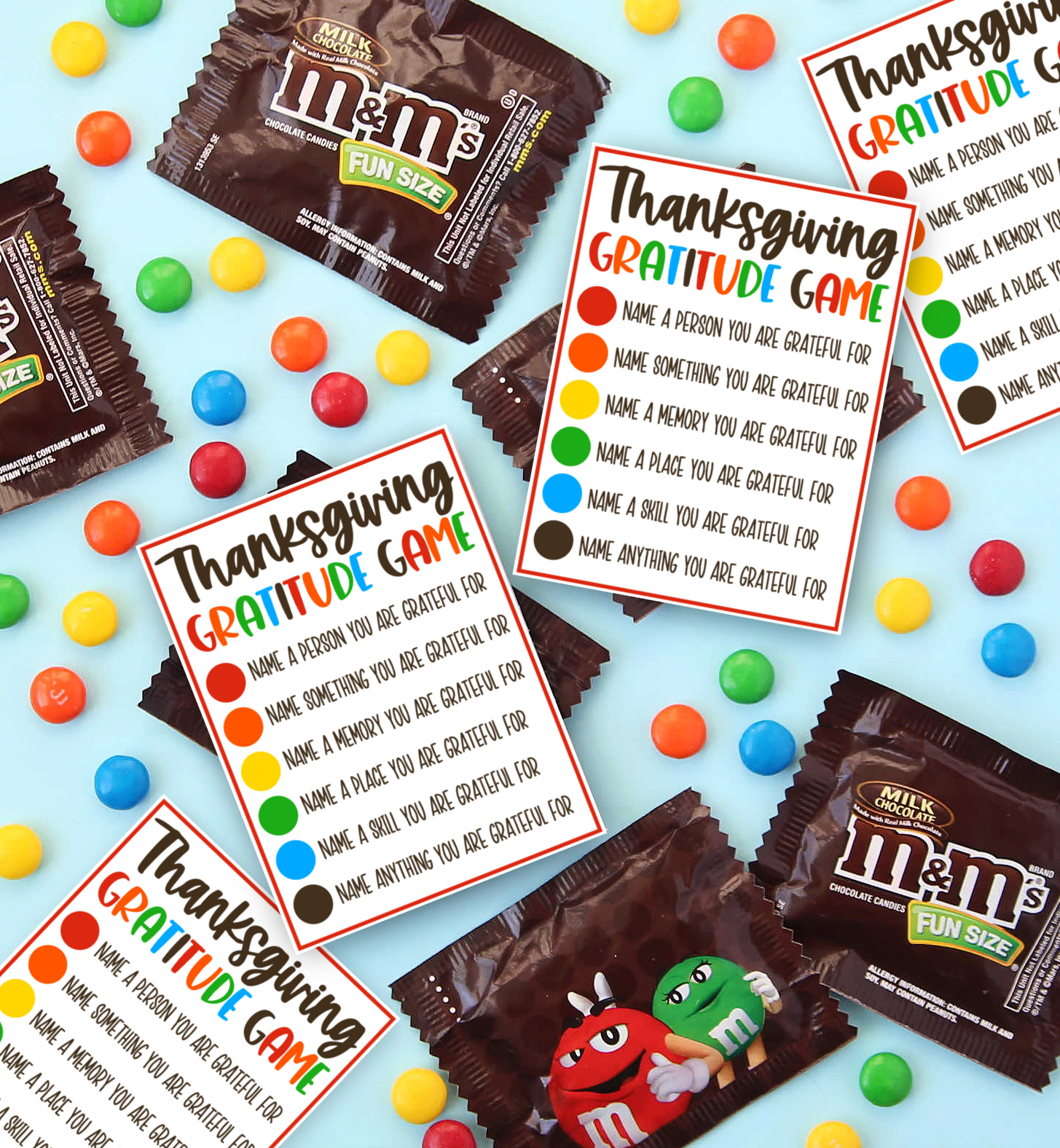 Thanksgiving Gratitude Game Free Printable